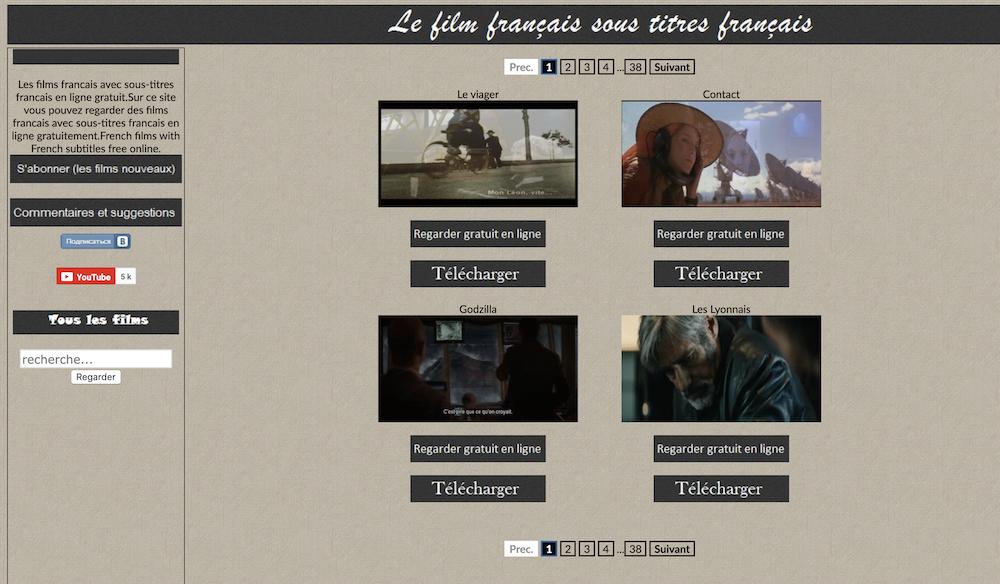 Des films français avec des sous-titres en français