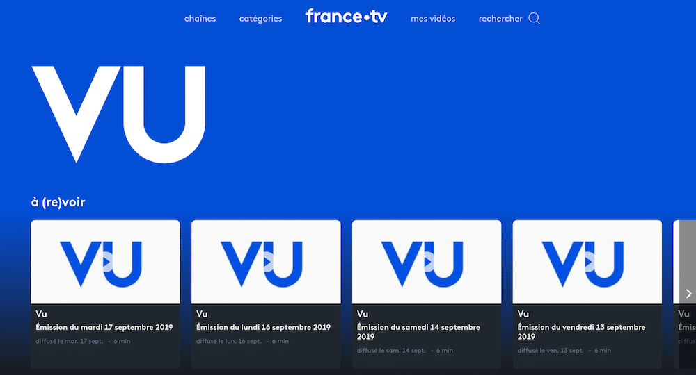 utilisable Vu, zapping de l'actu à la TV.