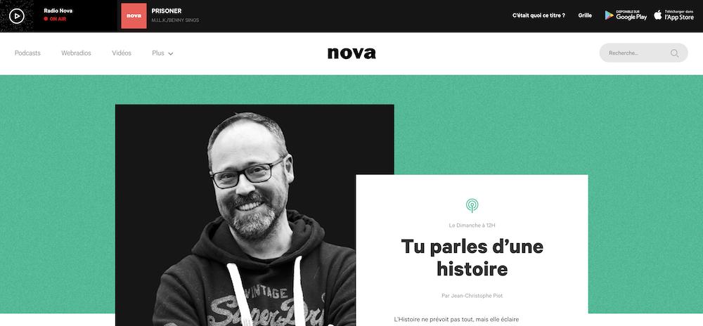 """Émission """"Tu parles d'une histoire"""", radio Nova"""