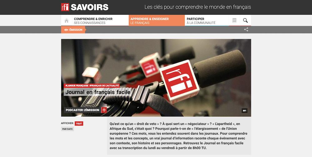 Journal en français facile de RFI
